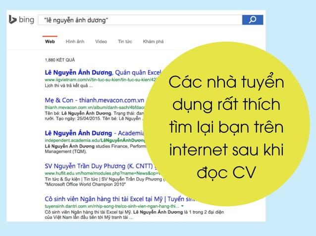 Các nhà tuyển dụng rất thích tìm lại bạn trên internet sau khi đọc CV