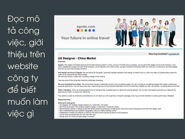 Đọc mô tả công việc, giới thiệu trên website công ty để biết muốn làm việc gì