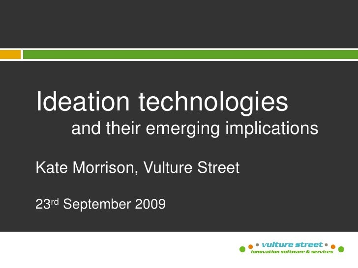 Talk to Ausbiotech on Ideation Technologies
