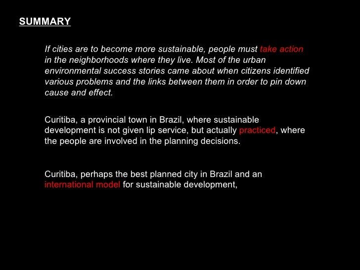 alternative routes to the sustainable city austin curitiba and frankfurt