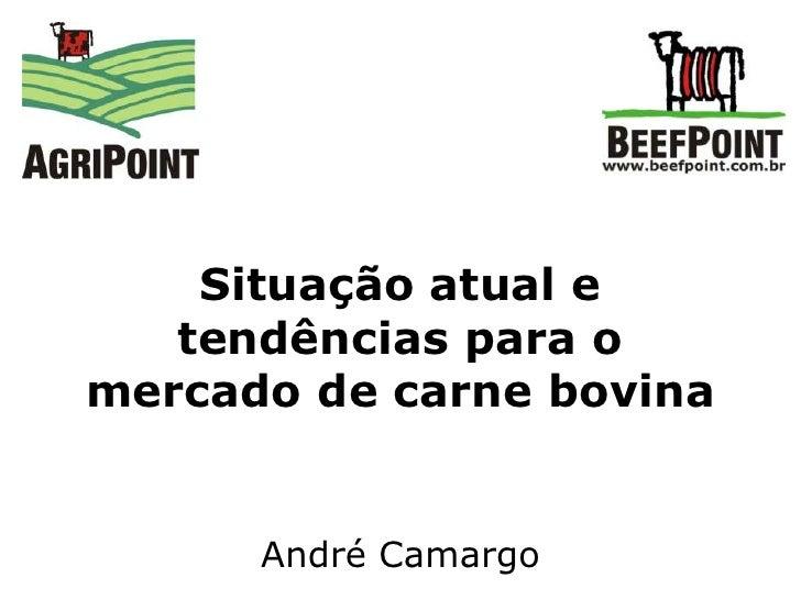 Situação atual e tendências para o mercado de carne bovina<br />André Camargo<br />