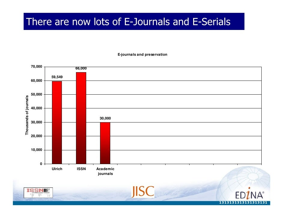 There are now lots of E-Journals and E-Serials                                                                  E-journals...
