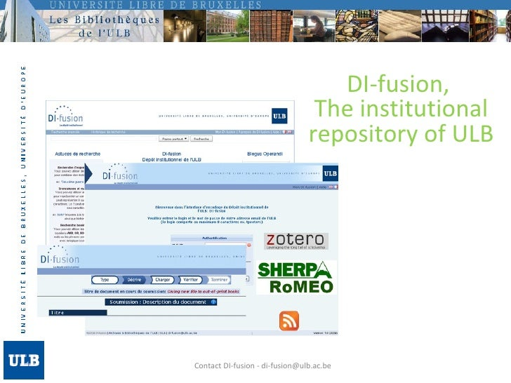 Contact DI-fusion - di-fusion@ulb.ac.be DI-fusion,  The institutional repository of ULB