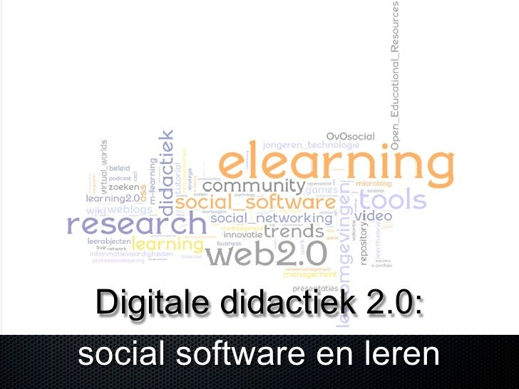 Digitale didactiek 2.0: social software en leren
