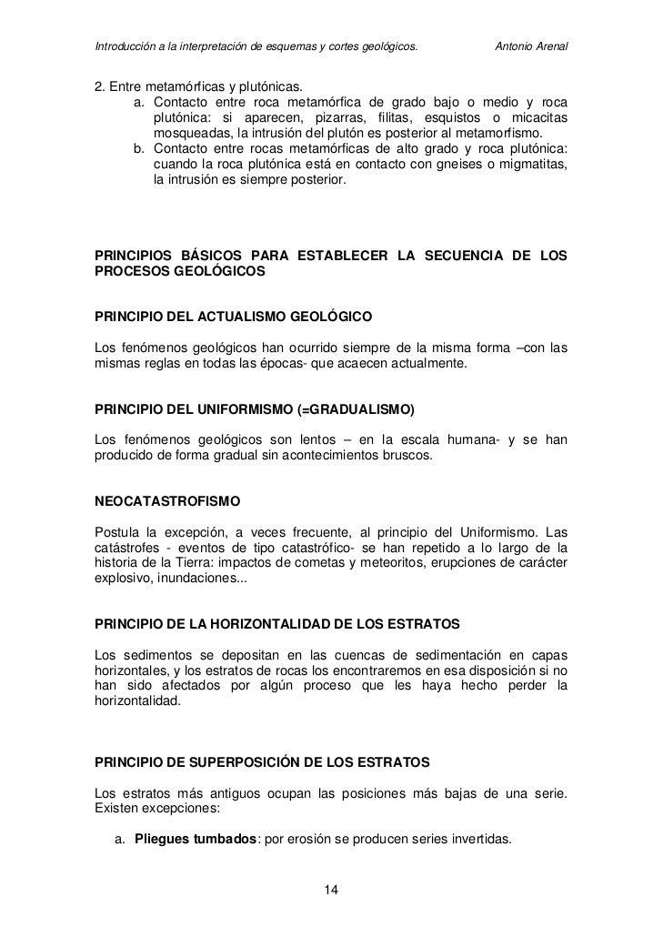 Introducción a la interpretación de esquemas y cortes geológicos.   Antonio Arenal   2. Entre metamórficas y plutónicas.  ...
