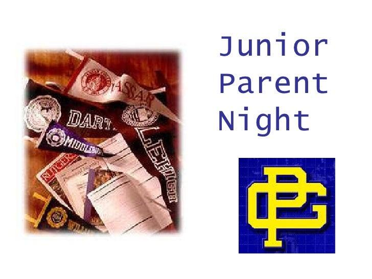 Junior Parent Night<br />