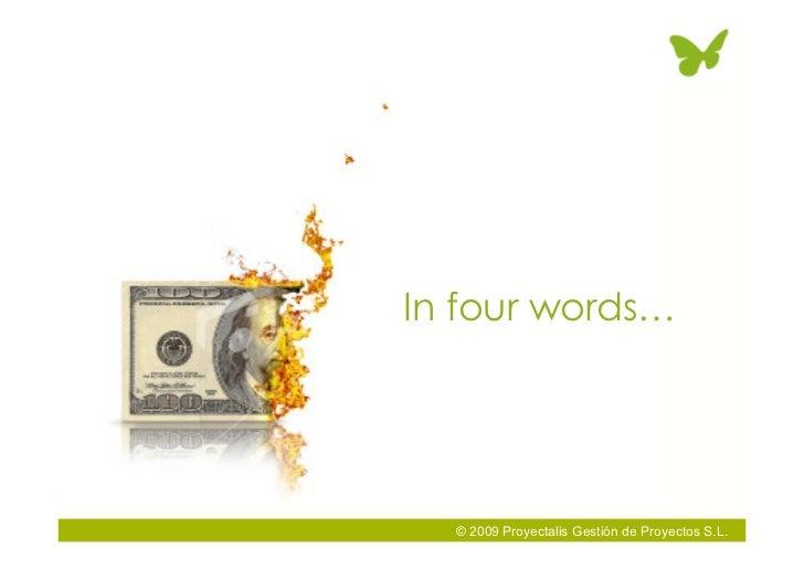 In four words…       © 2009 Proyectalis Gestión de Proyectos S.L.