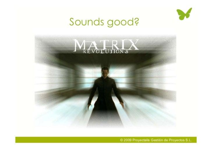 Sounds good?             © 2009 Proyectalis Gestión de Proyectos S.L.