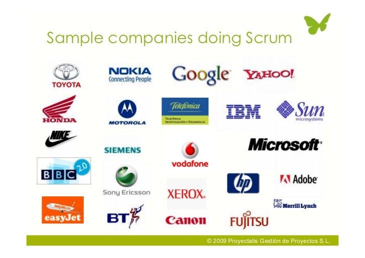 Sample companies doing Scrum                       © 2009 Proyectalis Gestión de Proyectos S.L.