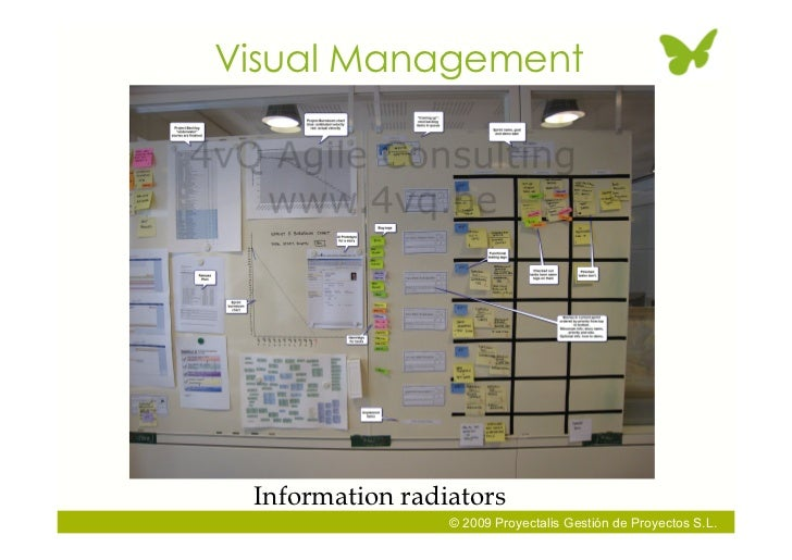 Visual Management      Information radiators                  © 2009 Proyectalis Gestión de Proyectos S.L.