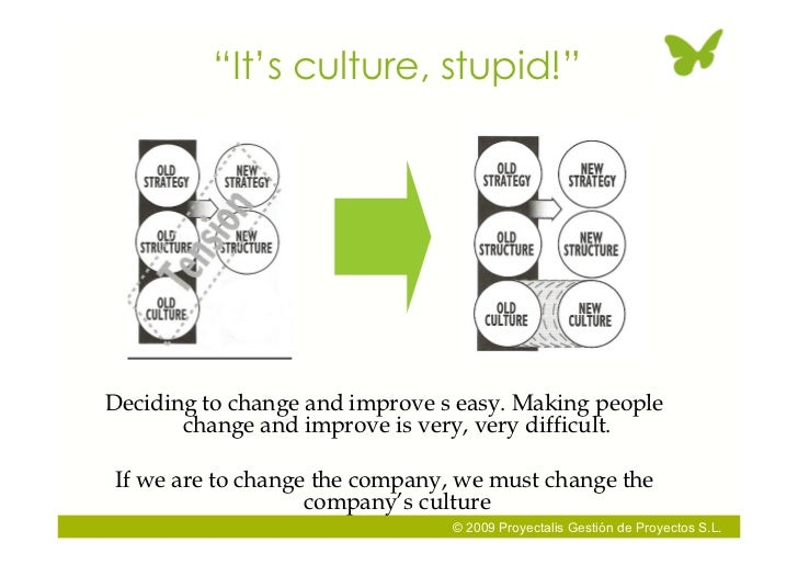 """""""It's culture, stupid!""""     Deciding to change and improve s easy. Making people        change and improve is very, very d..."""