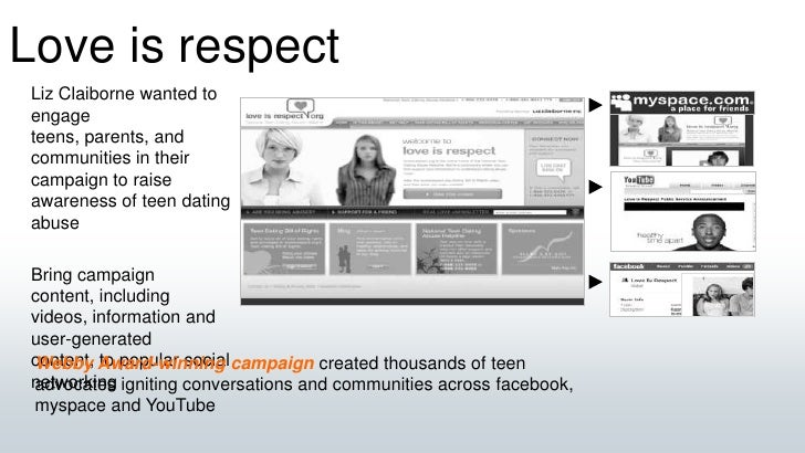 Love is respect<br />Liz Claiborne wanted to engage teens, parents, and communities in their campaign to raise awareness o...