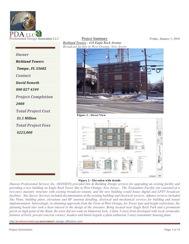 Professional Design Associates LLC                          Project Summary                                Friday, January...