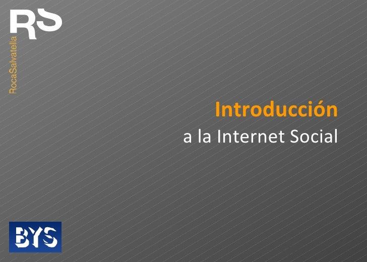 Introducción a la Internet Social