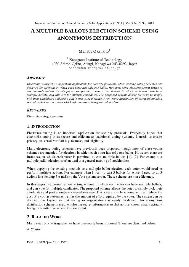 International Journal of Network Security & Its Applications (IJNSA), Vol.3, No.5, Sep 2011 DOI : 10.5121/ijnsa.2011.3502 ...