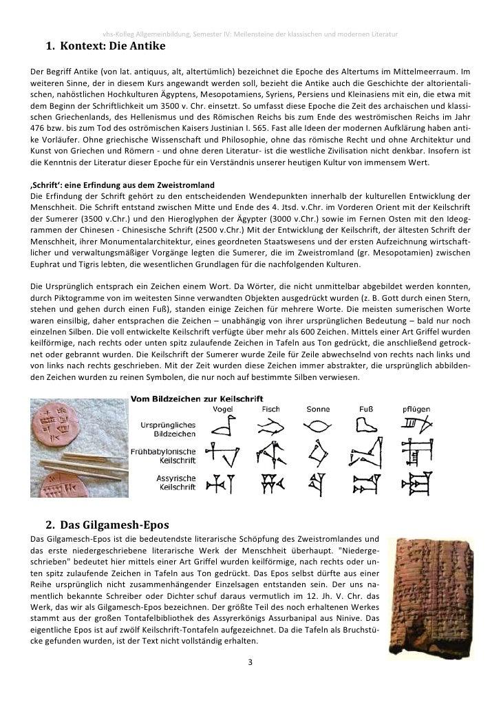 091204 Vhs  Literaturgeschichte  I  Antike Slide 3