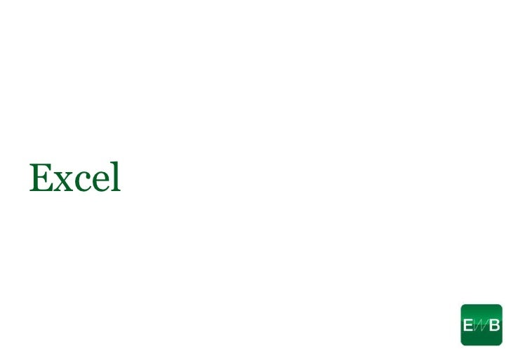 Excel<br />