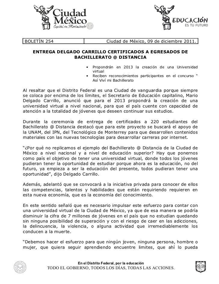 Entrega Mario Delgado certificados a egresados de Bachillerato @ Distancia