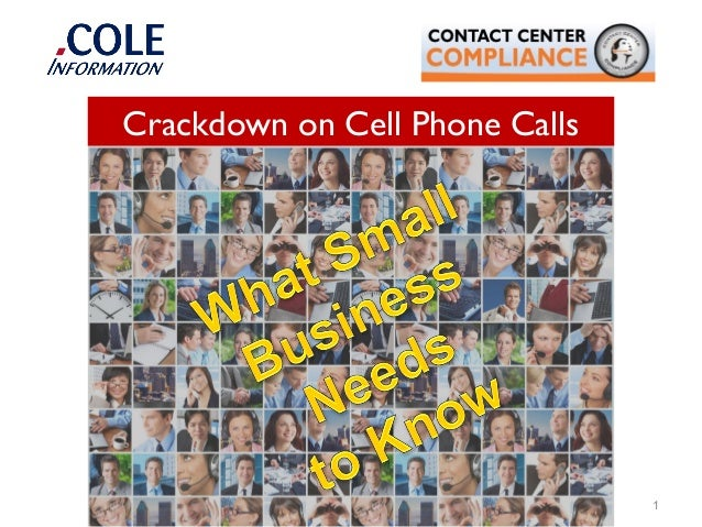 1 Crackdown on Cell Phone Calls