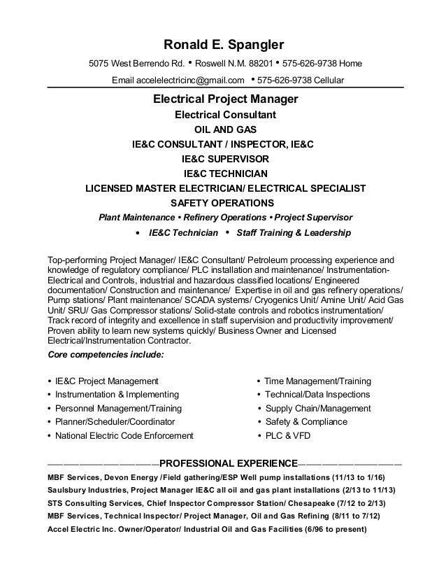 Resume Ronald Spangler 09-01-2016