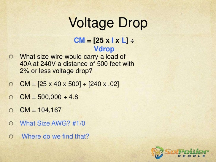 Formulas review part 2 edited 92012 voltage drop greentooth Gallery