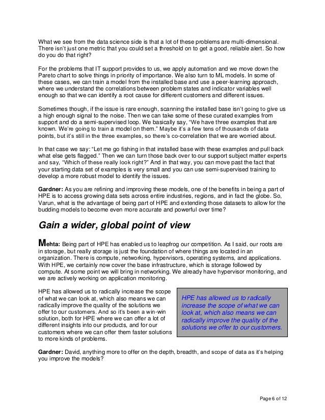 Page 6 of 12 What we see from the data science side is that a lot of these problems are multi-dimensional. There isn't jus...