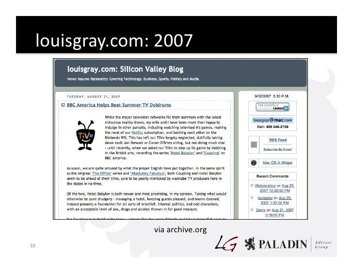 louisgray.com:  2007                              via  archive.org   10