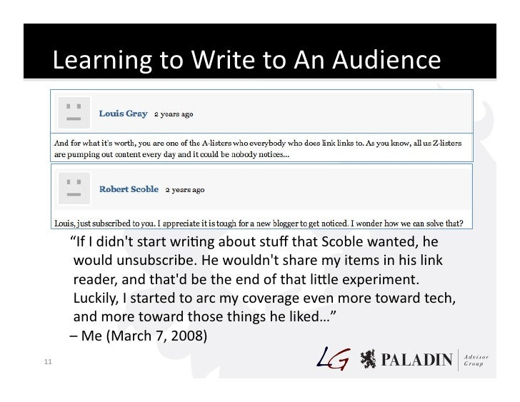 """Learning  to  Write  to  An  Audience                  """"If  I  didn't  start  wriCng  about  stu..."""