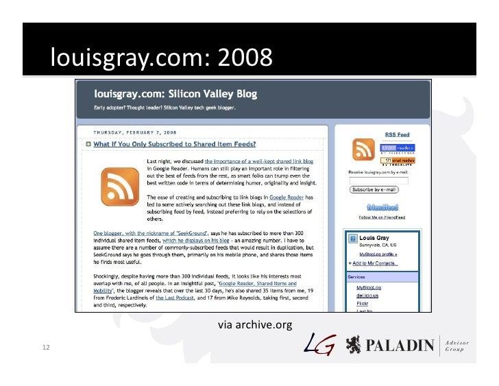 louisgray.com:  2008                              via  archive.org   12