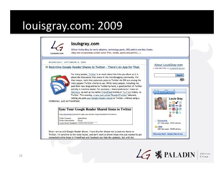 louisgray.com:  2009       13