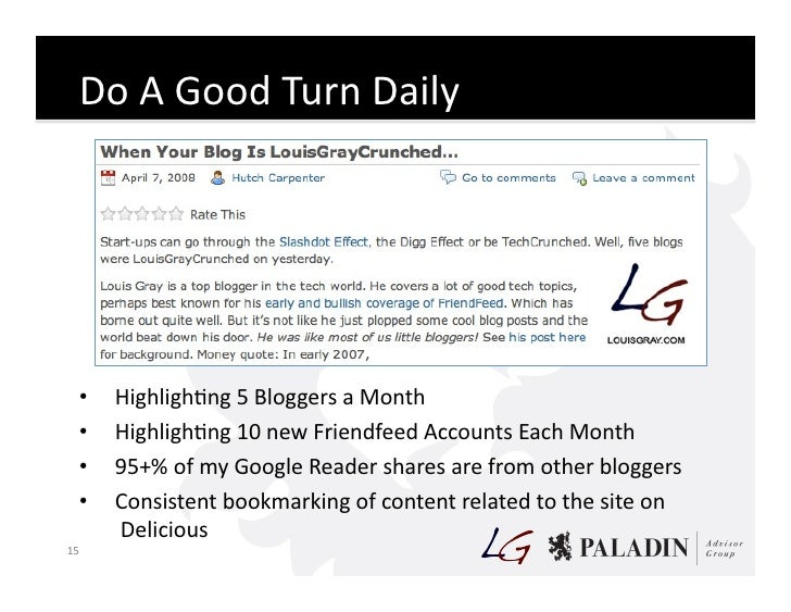 Do  A  Good  Turn  Daily           •   HighlighCng  5  Bloggers  a  Month       •   HighlighCng  1...