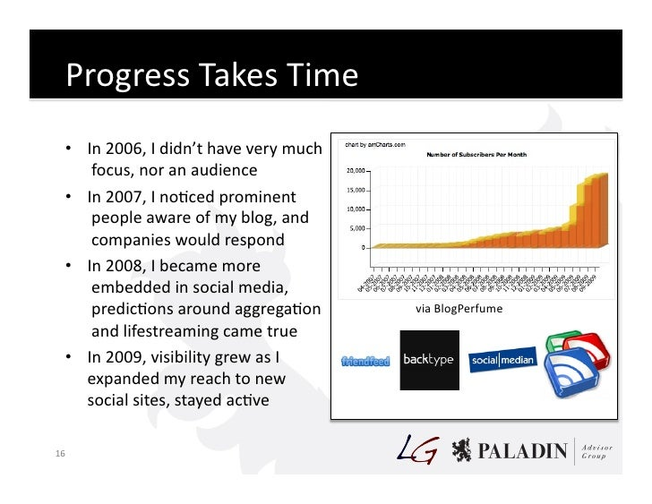 Progress  Takes  Time       • In  2006,  I  didn't  have  very  much          focus,  nor  an  ...