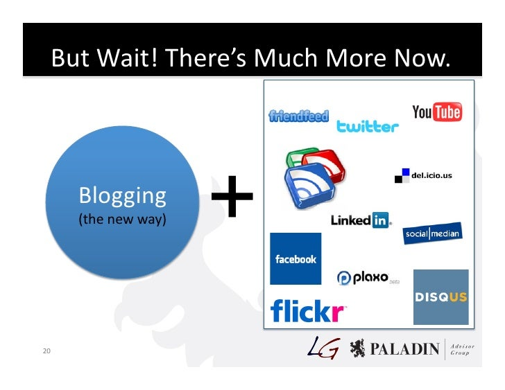 But  Wait!  There's  Much  More  Now.               Blogging            (the  new  way)     + 20