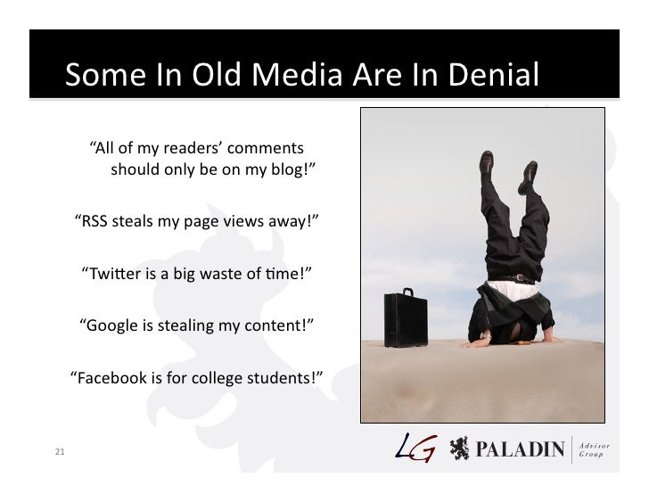 """Some  In  Old  Media  Are  In  Denial               """"All  of  my  readers'  comments               ..."""