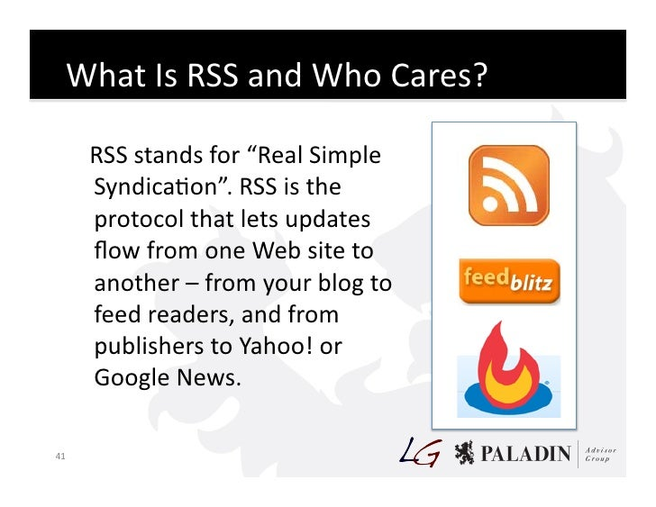 """What  Is  RSS  and  Who  Cares?                RSS  stands  for  """"Real  Simple                ..."""