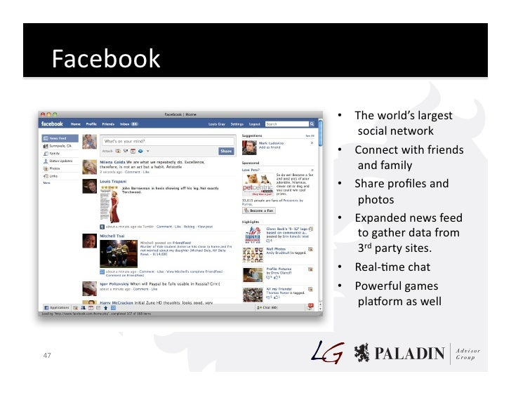 Facebook                      • The  world's  largest                         social  network                ...