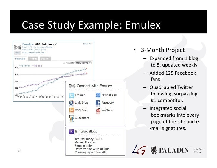 Case  Study  Example:  Emulex                                     • 3-‐Month  Project                       ...