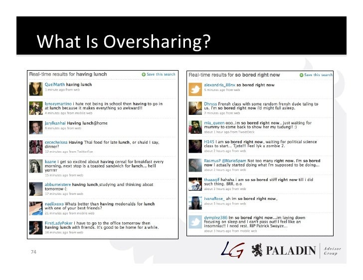 What  Is  Oversharing?       74