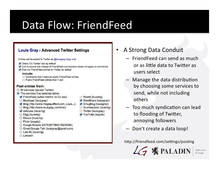Data  Flow:  FriendFeed                            • A  Strong  Data  Conduit                              ...
