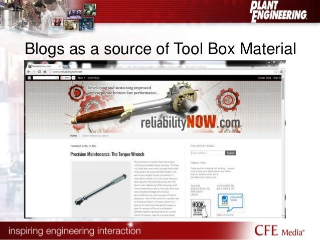 Blogs as a source of Tool Box Material