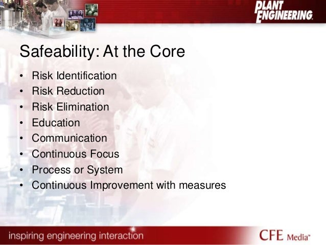 Safeability: At the Core  • Risk Identification  • Risk Reduction  • Risk Elimination  • Education  • Communication  • Con...