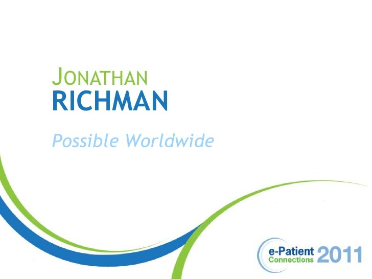 Jonathan<br />Richman<br />Possible Worldwide<br />