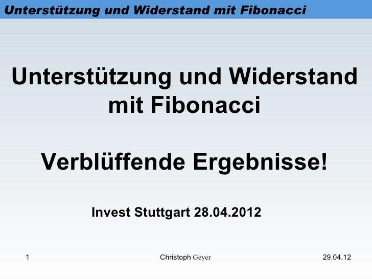 Unterstützung und Widerstand mit Fibonacci Unterstützung und Widerstand         mit Fibonacci       Verblüffende Ergebniss...