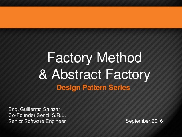 Design Patterns Factory Method Abstract Factory Mesmerizing Abstract Factory Pattern Java