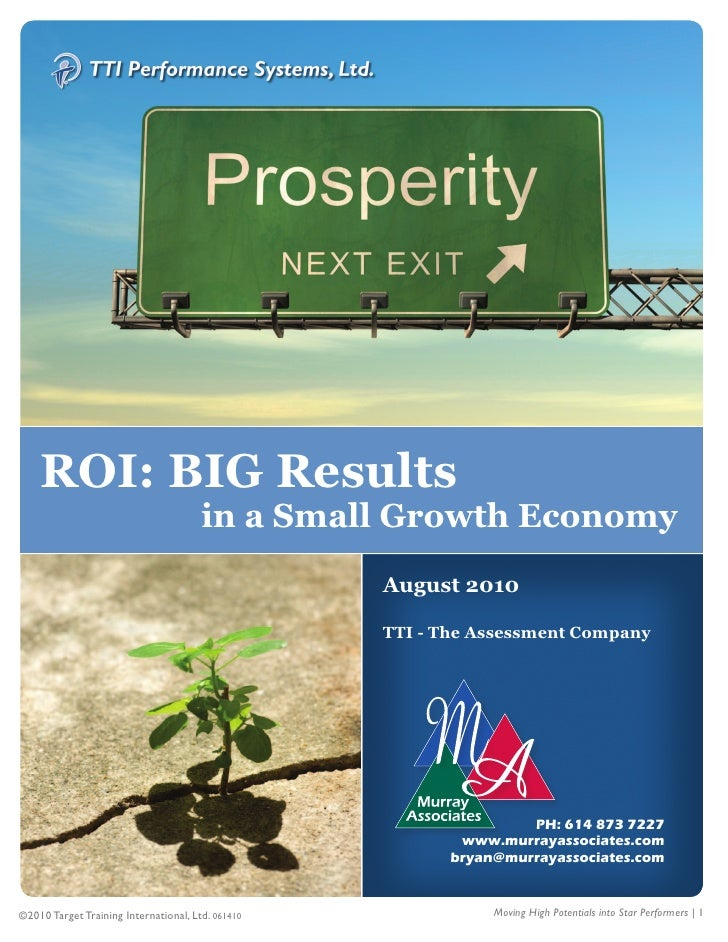 1         ROI: BIG Results                                        in a Small Growth Economy                               ...
