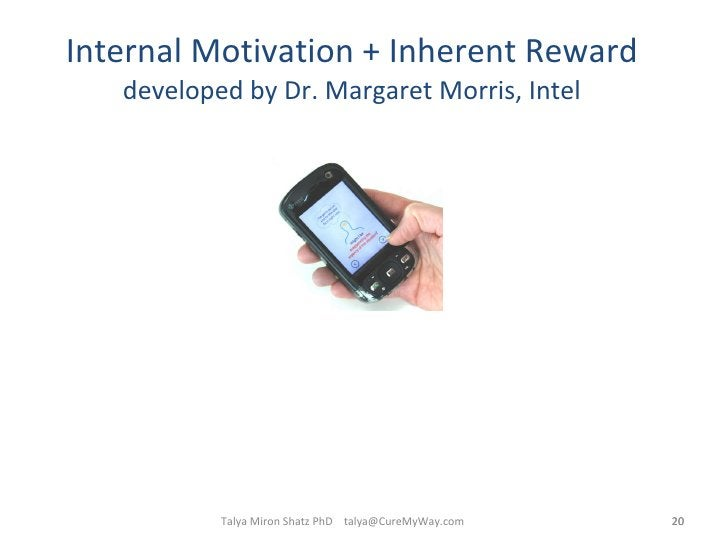 Internal Motivation + Inherent Reward developed by Dr. Margaret Morris, Intel Talya Miron Shatz PhD  [email_address]