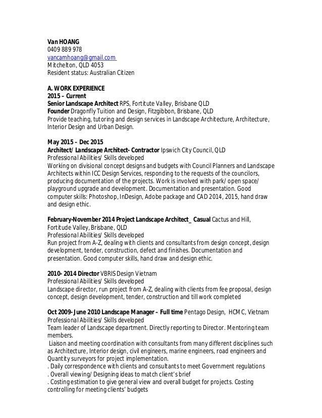 Resume of Van Hoang Sep 2016_RLA