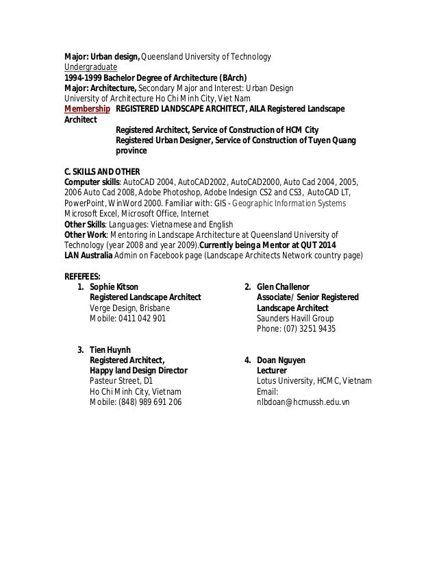 urban resume