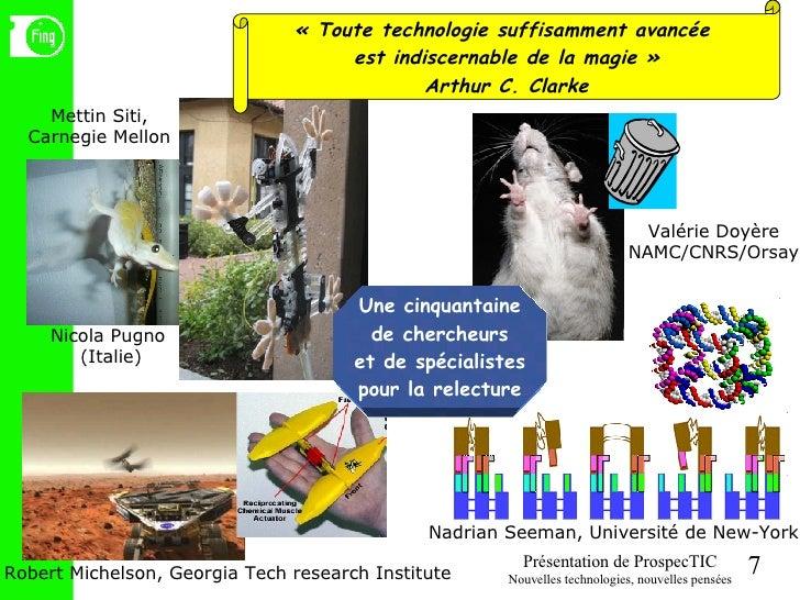 Une cinquantaine de chercheurs et de spécialistes pour la relecture «Toute technologie suffisamment avancée  est indiscer...