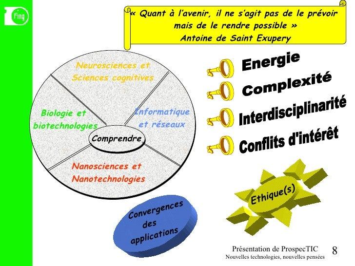 «Quant à l'avenir, il ne s'agit pas de le prévoir  mais de le rendre possible» Antoine de Saint Exupery Convergences des...